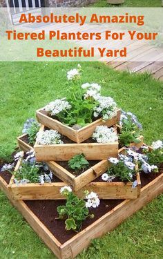 Absolutely Amazing Tiered Planters For Your Beautiful Yard