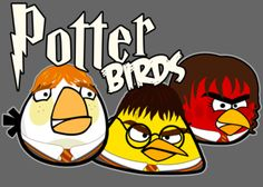My Potter and Angry bird lovers will get a kick out of these characters!