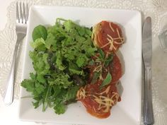 #instafood #italianfood #pasta #rondelle #greensalad