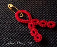 Awareness Ribbon Pattern  #tat #tatting #tatted