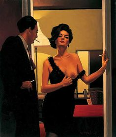 Jack Vettriano The Opening Gambit Oil on canvas 24 x 20 inches - See more at: http://www.jackvettriano.com/exhibitions/chimes-at-midnight/the-opening-gambit/#sthash.FXl5iHK1.dpuf