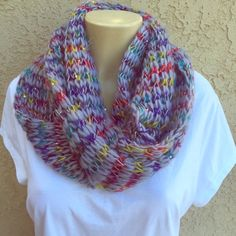 Multicolor scarf with sequins Beautiful infinity scarf . Price is firm unless bundled . 100% acrylic Accessories Scarves & Wraps