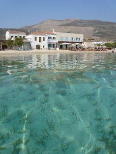 Diakofti beach, Kythira Island, south of Peloponnese, Greece Corfu, Crete, Places To Travel, Places To Visit, Santorini Villas, Porches, Myconos, Greece Pictures, Greek House