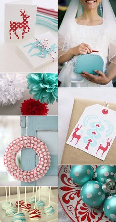 Poppy + Aqua - A Red, White & Blue Christmas Wedding Inspiration - One Fab Day