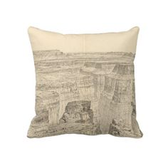 Vintage Pictorial Map of The Grand Canyon (1895) Pillows from Zazzle.com $62.40