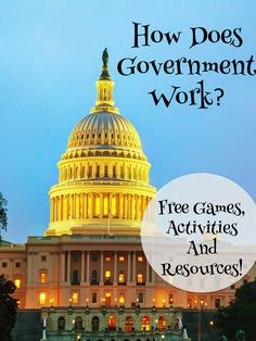 ready to teach about government? Everything you need is on this post! Lots of free games, activites and more!you ready to teach about government? Everything you need is on this post! Lots of free games, activites and more! 3rd Grade Social Studies, Social Studies Classroom, Social Studies Activities, Teaching Social Studies, Teaching History, History Education, Citizenship Activities, Teaching Class, Teaching Humor