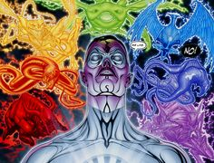 Living Tribunal White Lantern Sinestro and The Emotional Spectrum Spirits Comic Book Characters, Comic Character, Comic Books, Aliens, Living Tribunal, Guardians Of The Universe, Green Lantern Corps, White Lanterns, Story Arc