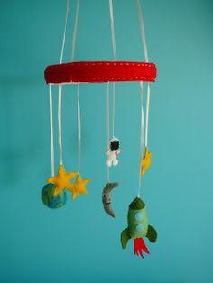 Belle Cherie Handmade: Space Mobile