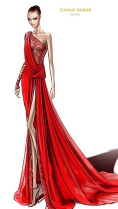 New Fashion Sketches Dresses Zuhair Murad Ideas Illustration Mode, Fashion Illustration Sketches, Fashion Sketchbook, Fashion Sketches, Moda Fashion, Trendy Fashion, Fashion Art, Glamour Moda, Zuhair Murad Dresses