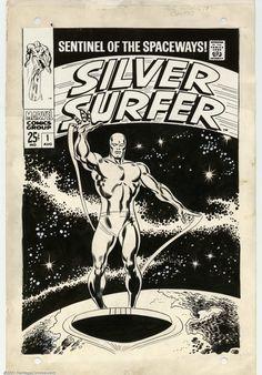 Original Comic Art:Covers, John Buscema and Joe Sinnott - Original Cover Art for Silver Surfer#1 (Marvel, 1968).