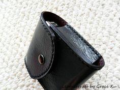 100% hand stitched handmade patent dark by leathercraftbygrace