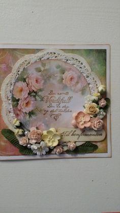 roses I Card, Floral Wreath, Roses, Wreaths, Frame, Home Decor, Homemade Home Decor, Pink, Door Wreaths
