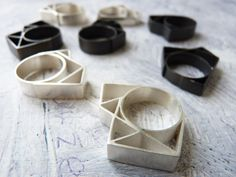 RING sterling silver contemporary jewelry geometric  by anapina,