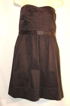 American Eagle Dress Black Strapless size 8 Party Cocktail Cotton solid Womens…