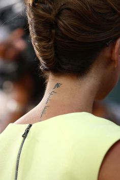 back of the neck tat - classy & subtle