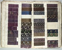 c.1836 Textile Sample Book