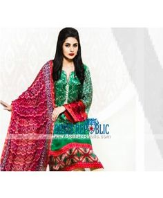 Vaneeza Eid Collection 2015 Silk Chiffon Pakistani Suits