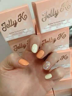 Coral nail art #naildesign #nails #nailart Coral Nail Art, Korean Nails, Bubble Tea, Nailart, Bubbles, Nail Designs, Photo And Video, Instagram, Nail Desings