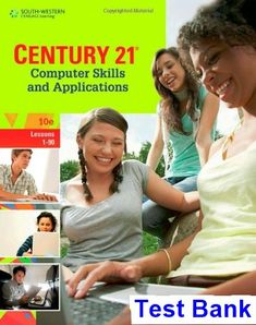 42 best test bank download images on pinterest century 21 computer skills and applications lessons 1 90 10th edition hoggatt test bank fandeluxe Gallery