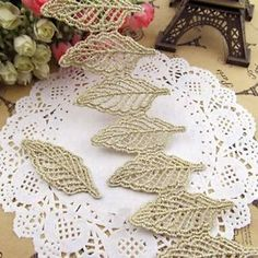 Hot Lace Appliques Leaves Sew on Fabric Motifs Patches Embroidery Trims 10pcs | eBay