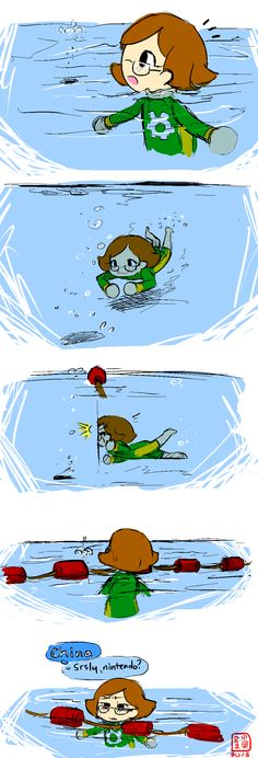 I hate it when they go back there! I can only swim so fast! D: