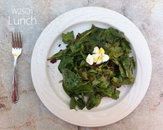 July 24th 2013 - W25D1 Lunch - Spinach salad with bacon, egg, and vinaigrette dressing from SideTrax in Redwood City.