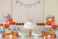 festa cinderela azul e laranja - Pesquisa Google
