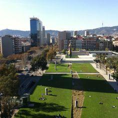Una vista preciosa desde el centro comercial arena de Barcelona!