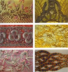 Embroideries from the Lesage archive from the book Ecole Lesage Chez Vous