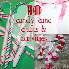 10 Candy Cane Crafts  Activities ~ Creative Family Fun