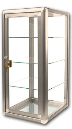 Glass Countertop Display Case Fixture Showcase Key lock 3 shelves BRONZE  #IntegrityBeforeRiches
