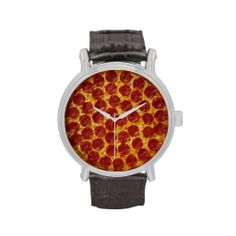 Pepperoni Pizza Wristwatches nummy!