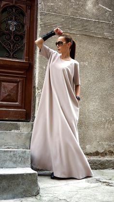 NEW Maxi Dress / Powder Pink Kaftan / Extravagant Long  Dress