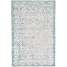 Bungalow Rose Wilton Light Blue Area Rug Rug Size: Round 8'