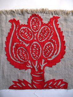 Tara Badcock - Banksia Papercut cushion for Joanna P-in progress detail, via Flickr