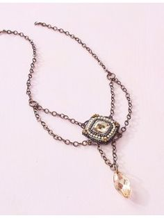 Crystal Pendulum Necklace Pattern | InterweaveStore.com