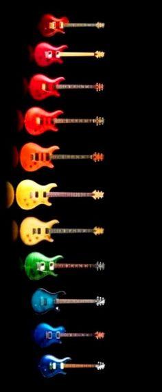 Rainbow of guitar