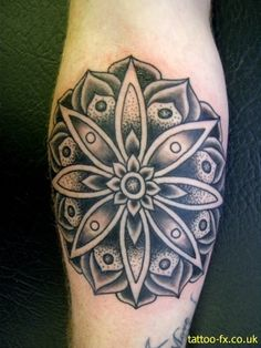 Tattoo Mandala Lotus with some color this would be even more cooler