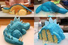 dinosaur birthday cake - Perfect for my nephews dinosaur party :) Dinosaur Birthday Cakes, Dinosaur Party, Dinosaur Cake Easy, 3rd Birthday, Dinosaur Cupcake Cake, Birthday Ideas, Birthday Cakes For Kids, 3d Birthday Cake, Dinosaur Train