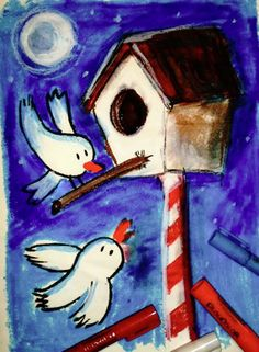 Playcolor, dibujo, ilustracion, niños, draw, kids, color, birds, illustration, colores, instant