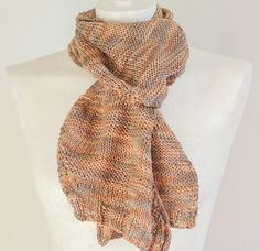 Reginas Timeless Knits    ****READY TO SHIP****    Welcome to my shop.      * The Zig Zag Scarf *    100% Hand dyed silk Beige and Gray