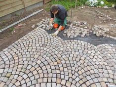 Natural stone paving -We professionally install natural stone paving -My garden . - Natural stone pavements -We will lay it down properly Natural stone pavement -My garden – a place - Garden Pavers, Terrace Garden, Garden Pool, Plant Design, Garden Design, Stone Pavement, Paving Pattern, Paver Designs, Stone Driveway