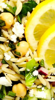 This Herb-Lovers Lemony Orzo Salad recipe is easy to make and customize with your favorite add-ins, and full of the BEST fresh flavors! Lemon Orzo Salad, Orzo Salad Recipes, Lemon Pasta, Salad Dressing Recipes, Pasta Salad, Vegetarian Recipes, Cooking Recipes, Healthy Recipes, Healthy Salads