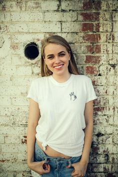 Brandy ♥ Melville | Margie OK Embroidery Top - Graphics