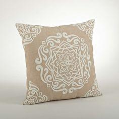 Saro Carmen Embroidered Cotton Throw Pillow & Reviews | Wayfair