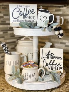 Coffee Tray, Coffee Nook, Coffee Bar Home, Coffee Bar Signs, Coffee Bar Ideas, Coffee Life, Kitchen Tray, Kitchen Signs, Fresh Squeezed Lemonade