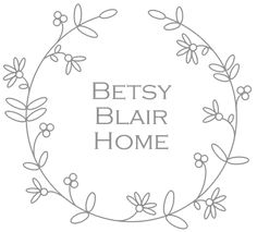 Pixie Bunting in Ivory Linen & Floral / Betsy Blair Home
