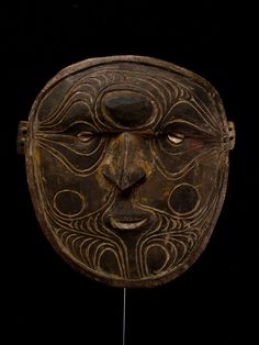 Very Old Hardwood Mask - Collected Papua New Guinea 1960's