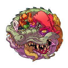 Graffiti Art, Art Sketches, Art Drawings, Zombie Cartoon, Best Tattoo Designs, Icon Design, Illustrators, Drawing Tutorials, Behance