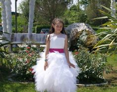 Diamond/off white flower girl dress 'Grace' with by somsicouture